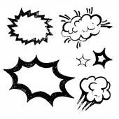 Comics balloons illustration — Cтоковый вектор
