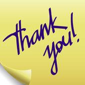 Thank you. sticker — Stock Vector