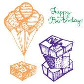 Vector birthday attributes — Stock Vector