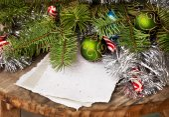 Winter holiday background — Stock Photo