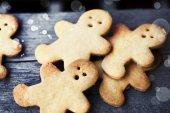 Noel zencefilli kurabiye — Stok fotoğraf