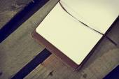 White blank papers in copybook — Stock Photo