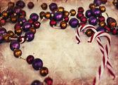 Frohe weihnachten-dekoration-hintergrund — Stockfoto