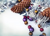 Merry christmas decoration background — Stock Photo