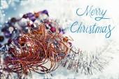 Merry christmas festive background — Stock Photo