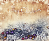 Merry christmas festive background — Stock Photo