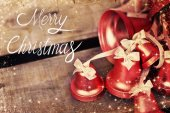 Merry Christmas holiday bells — Stock Photo