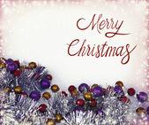 Kerstmis decoratie achtergrond — Stockfoto