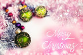 Merry christmas decorations — Stock Photo
