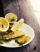 Fresh lemon and mint — Stock Photo