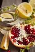 Ripe Juicy pomegranate — Stock Photo