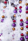 Christmas tinsel decorations — Foto Stock