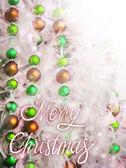 Christmas tinsel decorations — Stock Photo
