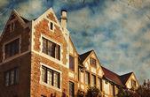 Red brick house — Stock Photo