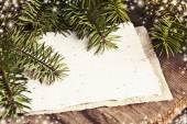 Christmas blank paper card — Stok fotoğraf