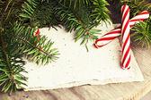 Christmas blank paper card — Stockfoto
