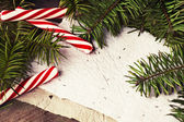 Christmas blank paper card — Fotografia Stock