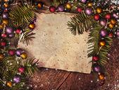 圣诞纸张背景 — 图库照片