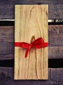 Пустой тег деревянные подарочные — Стоковое фото