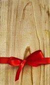 Leeren Geschenk aus Holz-Tag — Stockfoto