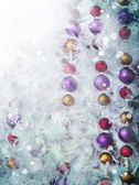 Christmas tinsel decorations — Stockfoto