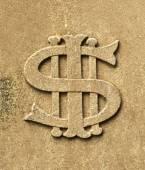 Gravestone bearing IHS Christogram monogram — Stock Photo