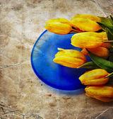 Valentine tulips background — Stock Photo