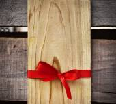 Red Bow And  Gift Tag — Stock Photo