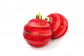 Two red Christmas ball — Stock Photo