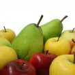 Apples and pears mixed — Stock Photo #57686841