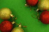 Six Christmas balls  — Stock Photo