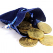 Bag with a Russian coins — Stock Photo #59754571