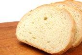 White wheat bread slices — Stock Photo