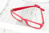 Pink ladies rectangular glasses — Stock Photo