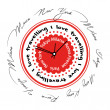 Abstract clock multilingual red with city names — Stock Photo #66732831