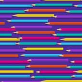 Padrão sem emenda com lápis de cor — Vetor de Stock