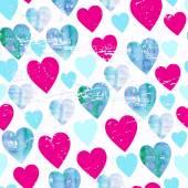 Wzór akwarele serca — Wektor stockowy