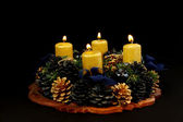 Lightning advent candles — Photo
