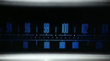 Finding FM radio station — Stock Video