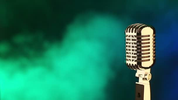 Micrófono y concierto de luces — Vídeo de stock