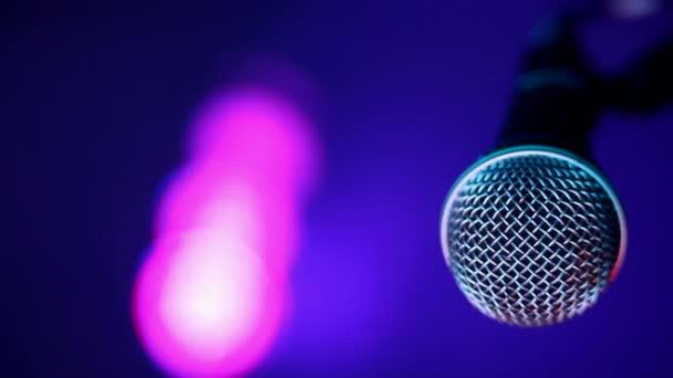 Microphone and concert lights — Vidéo