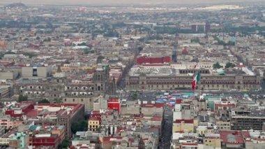 Посмотреть на zocalo в Мехико — Стоковое видео