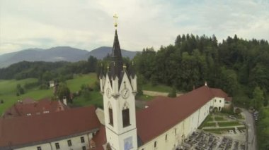 Monastero vicino a kamnik, slovenia. — Video Stock