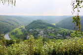 Beautiful view in Belgian Ardennes, province Luembourg — Stock Photo