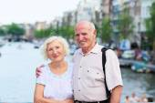 Senior couple in Amstrerdam — Stock Photo