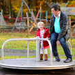 Father and daughter at playground — Stock Photo #58951119