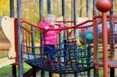 Preschooler girl at the playground — Stock Photo