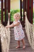 Toddler girl at playground — Stock Photo