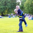 Two happy boys playing in the park — ストック写真 #73982037