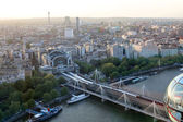 Fantastic cityscape, view from London Eye — Stock Photo
